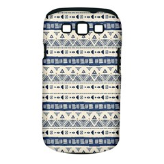 Native American Ornaments Watercolor Pattern Blue Samsung Galaxy S Iii Classic Hardshell Case (pc+silicone)