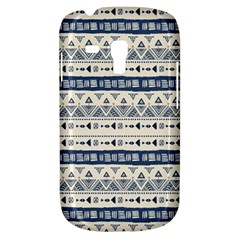 Native American Ornaments Watercolor Pattern Blue Samsung Galaxy S3 Mini I8190 Hardshell Case