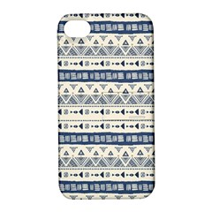 Native American Ornaments Watercolor Pattern Blue Apple Iphone 4/4s Hardshell Case With Stand by EDDArt