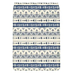 Native American Ornaments Watercolor Pattern Blue Flap Covers (s)
