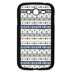 Native American Ornaments Watercolor Pattern Blue Samsung Galaxy Grand Duos I9082 Case (black)