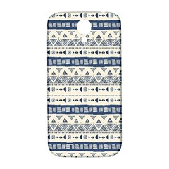 Native American Ornaments Watercolor Pattern Blue Samsung Galaxy S4 I9500/i9505  Hardshell Back Case by EDDArt