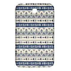 Native American Ornaments Watercolor Pattern Blue Samsung Galaxy Tab 3 (7 ) P3200 Hardshell Case