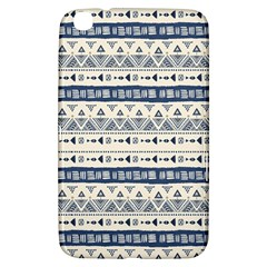 Native American Ornaments Watercolor Pattern Blue Samsung Galaxy Tab 3 (8 ) T3100 Hardshell Case  by EDDArt