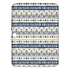 Native American Ornaments Watercolor Pattern Blue Samsung Galaxy Tab 3 (10 1 ) P5200 Hardshell Case