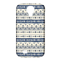 Native American Ornaments Watercolor Pattern Blue Samsung Galaxy S4 Classic Hardshell Case (pc+silicone)