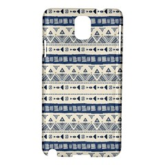 Native American Ornaments Watercolor Pattern Blue Samsung Galaxy Note 3 N9005 Hardshell Case