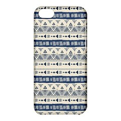 Native American Ornaments Watercolor Pattern Blue Apple Iphone 5c Hardshell Case by EDDArt