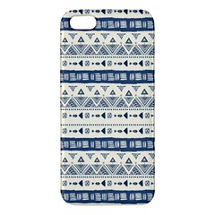 Native American Ornaments Watercolor Pattern Blue Iphone 5s/ Se Premium Hardshell Case by EDDArt
