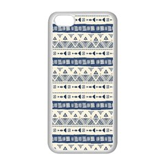 Native American Ornaments Watercolor Pattern Blue Apple Iphone 5c Seamless Case (white)
