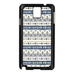 Native American Ornaments Watercolor Pattern Blue Samsung Galaxy Note 3 N9005 Case (black)