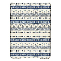 Native American Ornaments Watercolor Pattern Blue Ipad Air Hardshell Cases