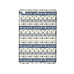 Native American Ornaments Watercolor Pattern Blue Ipad Mini 2 Hardshell Cases by EDDArt