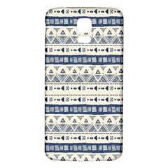 Native American Ornaments Watercolor Pattern Blue Samsung Galaxy S5 Back Case (white)