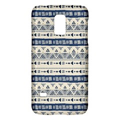 Native American Ornaments Watercolor Pattern Blue Samsung Galaxy S5 Mini Hardshell Case