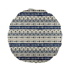 Native American Ornaments Watercolor Pattern Blue Standard 15  Premium Flano Round Cushions by EDDArt