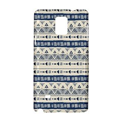 Native American Ornaments Watercolor Pattern Blue Samsung Galaxy Note 4 Hardshell Case by EDDArt