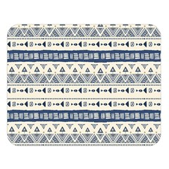 Native American Ornaments Watercolor Pattern Blue Double Sided Flano Blanket (large)  by EDDArt