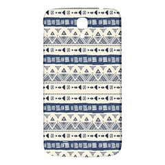 Native American Ornaments Watercolor Pattern Blue Samsung Galaxy Mega I9200 Hardshell Back Case by EDDArt