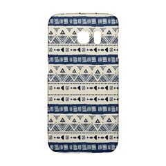 Native American Ornaments Watercolor Pattern Blue Samsung Galaxy S6 Edge Hardshell Case by EDDArt