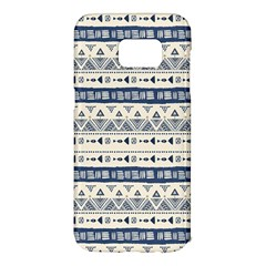 Native American Ornaments Watercolor Pattern Blue Samsung Galaxy S7 Edge Hardshell Case