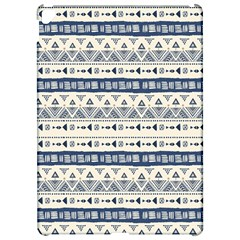 Native American Ornaments Watercolor Pattern Blue Apple Ipad Pro 12 9   Hardshell Case