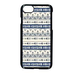 Native American Ornaments Watercolor Pattern Blue Apple Iphone 7 Seamless Case (black) by EDDArt