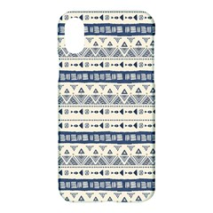 Native American Ornaments Watercolor Pattern Blue Apple Iphone X Hardshell Case