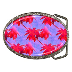 Palm Trees Neon Nights Belt Buckles by CrypticFragmentsColors