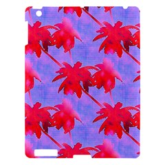 Palm Trees Neon Nights Apple Ipad 3/4 Hardshell Case by CrypticFragmentsColors