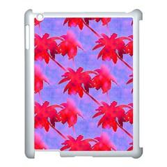 Palm Trees Neon Nights Apple Ipad 3/4 Case (white) by CrypticFragmentsColors