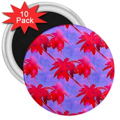 Palm Trees Neon Nights 3  Magnets (10 Pack)  by CrypticFragmentsColors