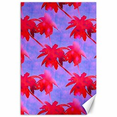 Palm Trees Neon Nights Canvas 24  X 36  by CrypticFragmentsColors