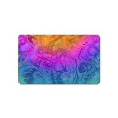 Fractal Batik Art Hippie Rainboe Colors 1 Magnet (name Card) by EDDArt