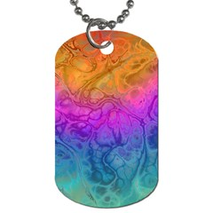 Fractal Batik Art Hippie Rainboe Colors 1 Dog Tag (one Side) by EDDArt