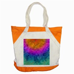 Fractal Batik Art Hippie Rainboe Colors 1 Accent Tote Bag by EDDArt