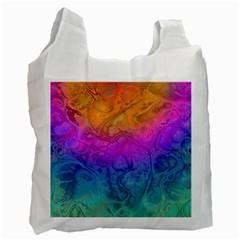 Fractal Batik Art Hippie Rainboe Colors 1 Recycle Bag (two Side)  by EDDArt