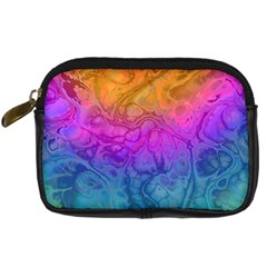 Fractal Batik Art Hippie Rainboe Colors 1 Digital Camera Cases by EDDArt