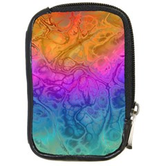 Fractal Batik Art Hippie Rainboe Colors 1 Compact Camera Cases by EDDArt