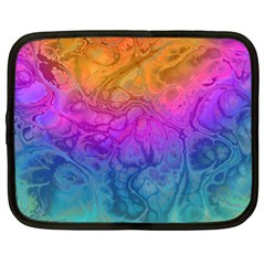 Fractal Batik Art Hippie Rainboe Colors 1 Netbook Case (xl)