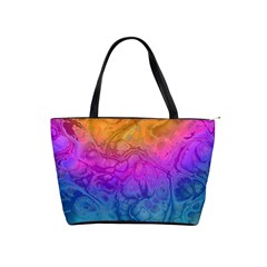 Fractal Batik Art Hippie Rainboe Colors 1 Shoulder Handbags