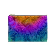 Fractal Batik Art Hippie Rainboe Colors 1 Cosmetic Bag (medium)