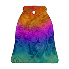 Fractal Batik Art Hippie Rainboe Colors 1 Bell Ornament (two Sides)