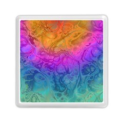 Fractal Batik Art Hippie Rainboe Colors 1 Memory Card Reader (square) by EDDArt