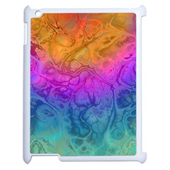 Fractal Batik Art Hippie Rainboe Colors 1 Apple Ipad 2 Case (white) by EDDArt