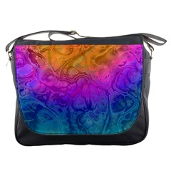 Fractal Batik Art Hippie Rainboe Colors 1 Messenger Bags by EDDArt