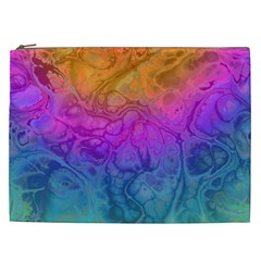 Fractal Batik Art Hippie Rainboe Colors 1 Cosmetic Bag (xxl)