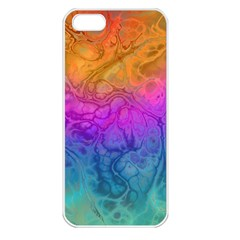 Fractal Batik Art Hippie Rainboe Colors 1 Apple Iphone 5 Seamless Case (white) by EDDArt