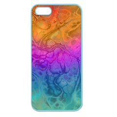 Fractal Batik Art Hippie Rainboe Colors 1 Apple Seamless Iphone 5 Case (color)