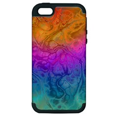 Fractal Batik Art Hippie Rainboe Colors 1 Apple Iphone 5 Hardshell Case (pc+silicone) by EDDArt